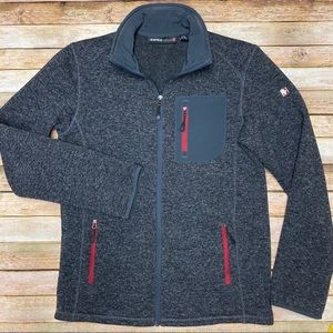 Swiss Tech Marled Sweater Fleece lined Jacket